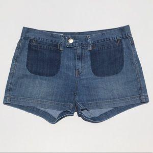 GAP Two Tone Distressed Denim Shorts 28/6